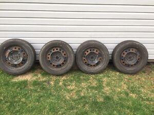 All Season Tires 205 55R16 on steal rims
