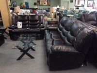 BRAND NEW BONDED LEATHER RECILINER SOFA (AVAILABLE IN 2 COLOURS)