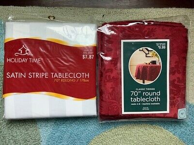 70 Round Tablecloth (Lot of 2 NEW 70
