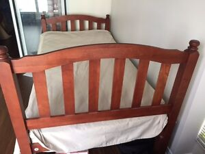 Real oak wood single bed in perfect condition