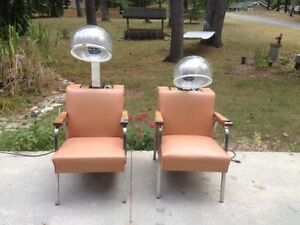 "Vintage - ""Helene Curtis"" salon hair dryer chairs - hairdresser London Ontario image 1"