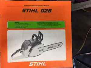 Stihl 028 Chain Saw Owners Manual