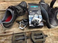 SPD SL Pedals and shoes (size 9)