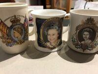 3 china mugs