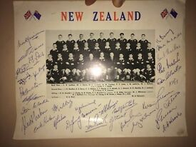 Signed New zealand late 1950's All blacks Photograph
