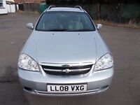 CHEVROLET LACETTI 1.6 SX ESTATE CAR 08 REG,, NICE CLEAN CAR FOR YEAR,, MOT JUNE 2017