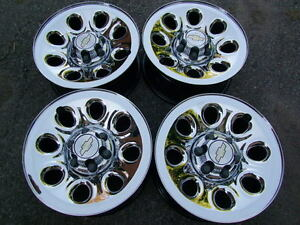 "4-17"" 6 STUDx5.5(139.7) GM TRUCK CHROME RIMS, CENTERS INCLUDED"