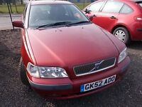 VOLVO S40 2.0 S AUTOMATIC SALOON 52 REG,, TRADE IN CAR TO CLEAR,, MOT 21ST JULY 2017