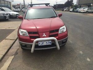 2005 Mitsubishi Outlander ZF XLS Red 4 Speed Automatic Wagon Fyshwick South Canberra Preview