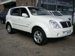2009 Ssangyong Rexton II Y200 MY08 RX270 XVT SPR White 5 Speed Automatic Wagon Wangara Wanneroo Area Preview