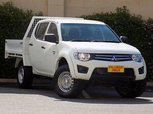 2012 Mitsubishi Triton MN MY12 GLX Double Cab White 5 Speed Manual Utility Blair Athol Port Adelaide Area Preview