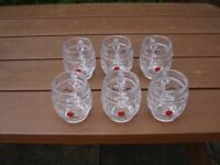 6x half-pint GLASSES - REKORDERIG CIDER - NEW NEVER BEEN USED