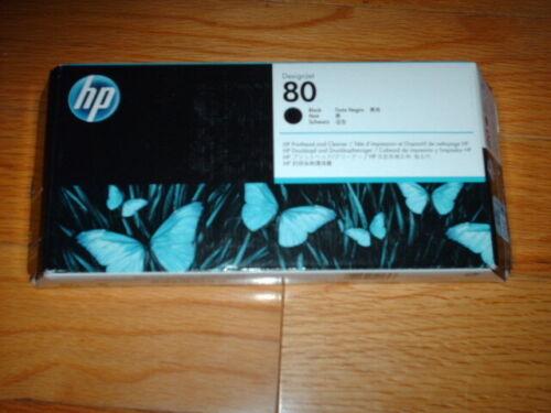 2023 GENUINE HP #80 BLACK PRINTHEAD/CLEANER DESIGNJET 1000 1050 C4820A NEW SEALE
