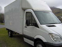 MAN AND A VAN, LUTON BOX VAN HIRE, REMOVAL SERVICE, NEW YEAR SPECIAL OFFER MOVE FROM ONLY £95