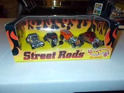 HOT WHEELS STREET RODS 4 CAR SET SPECIAL EDITION MINT IN SEALED BOX