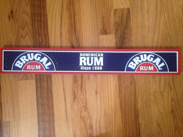 Brugal Dominican Rum Rubber Bar Rail Runner