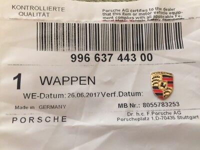 Genuine Porsche Key Fob Replacement Colored Crest Small Emblem Logo 99663744300