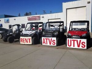 WE RENT ATV'S, UTV'S & SLEDS     ** NEW LOCATION! ** Edmonton Edmonton Area image 1