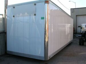 Truck van body for storage shed