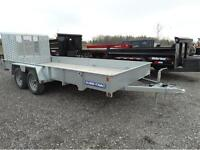 7x16 open galvanized landscape trailer
