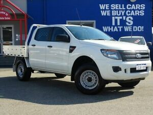 2015 Ford Ranger PX XL Double Cab 4x2 Hi-Rider White 6 Speed Sports Automatic Cab Chassis Welshpool Canning Area Preview