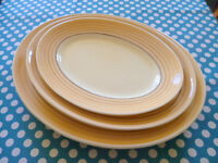 Set of 3 Clarice Cliff Bizarre 1930s Serving Plates