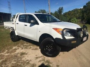 2013 Mazda BT-50 UP0YF1 XT White 6 Speed Manual Cab Chassis Bungalow Cairns City Preview