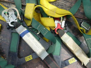 Used Fall safety harness+premium fall surpression lanyard+cable