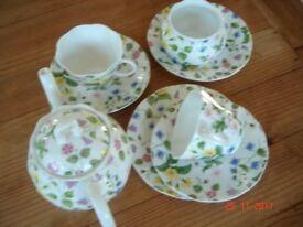 "Queens tea set ""Country Meadow"" pattern"