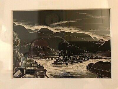 Meryl Watts, Print of Porthmadog Harbour, Snowdonia, Framed & Glazed