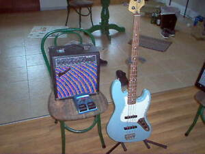 American Made Fender Jazz Bass / practice amp/ effects pedal