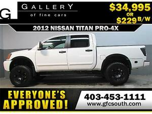 2012 NISSAN TITAN LIFTED *EVERYONE APPROVED* $0 DOWN $229/BW!
