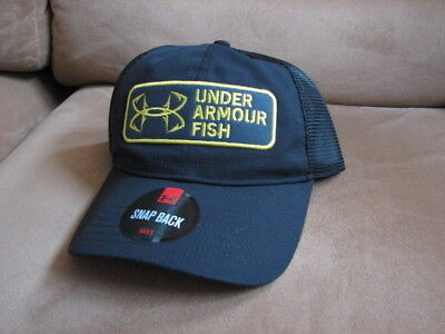 new arrival 1acee fa1ad Under Armour Thermocline ArmourVent UA FISH Hook Patch Cap Hat Snapback  Fishing
