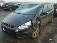 BREAKING FOR PARTS FORD S-MAX TITANIUM 2007 2.0 TDCI 143 BHP MANUAL IN SEA GREY