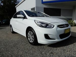 2016 Hyundai Accent RB3 MY16 Active White 6 Speed Constant Variable Sedan Glendale Lake Macquarie Area Preview