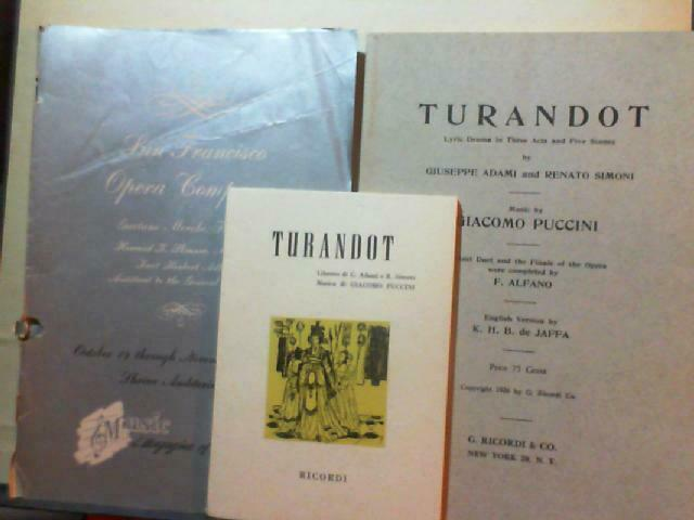 Turandot Di Giacomo Puccini Cetra Box Set 3 LPs LPC 1206 - $49.99