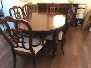 Thomasville Mahogany Dining Set (6 chairs, granite sideboard)