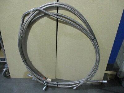 2 CTI Cryogenics 8043074G120, 10FT, Stainless Steel Hose, Cryopump, 452553