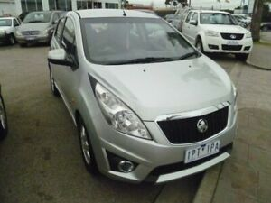2010 Holden Barina Spark MJ MY11 CD Silver 5 Speed Manual Hatchback