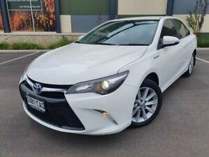 2015 Toyota Camry AVV50R Atara S White 1 Speed Constant Variable Sedan Hybrid Blair Athol Port Adelaide Area Preview