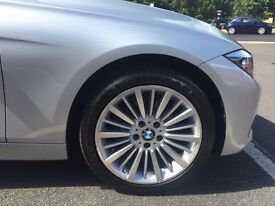 BMW saloon, 318d Luxury Auto with automatic remote boot opening rear parking sensors, alloy wheels