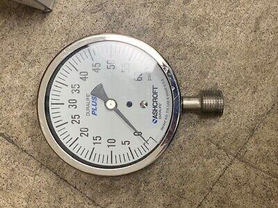 Ashcroft Pressure Gauge 0-60 Psi Stainless Steel