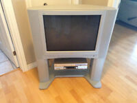27 inch JVC TV + VCR/DVD + stand for sale