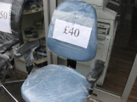 chair in sky blue swivle gas lift and tilt
