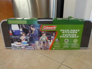 Coleman Pack Away Camping Kitchen - Portable Table - Mint