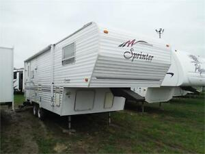 1998 Sprinter 245RL 5th Wheel Trailer with Slideout - Sleeps 6
