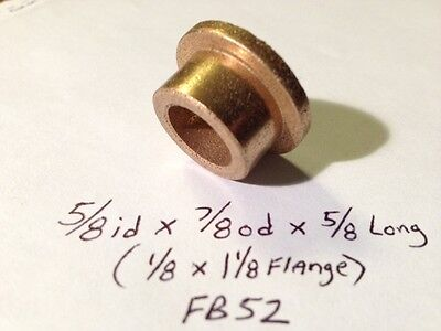 Oilite Flange Bushing Bronze 58 Id X 78 Od 58 Brass Bearing Shim Spacer Bush