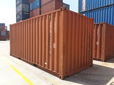 Used 20 Dry Van Steel Storage Container Shipping Cargo Conex Seabox Kansas City
