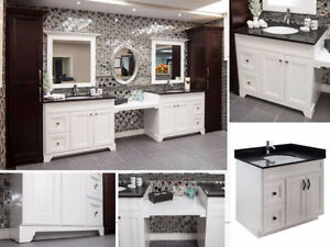 Maple Wood Bathroom Vanity on SALE