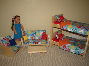 "Furniture for 18"" Dolls - Handmade and Solid Wood!"